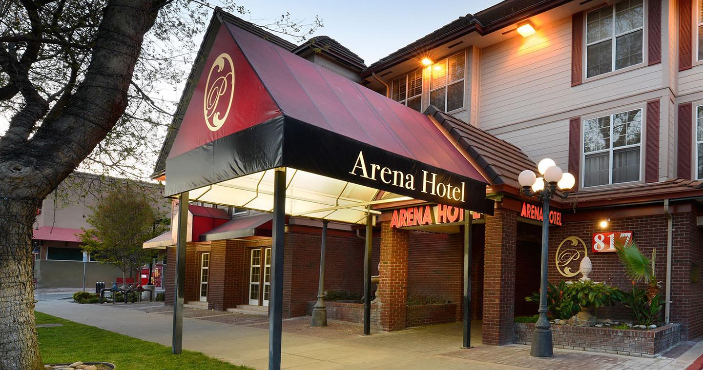 WELCOME TO THE ARENA HOTEL IN DOWNTOWN SAN JOSE              A PERFECT HOTEL FOR BUSINESS TRAVELERS VISITING SAP CENTER